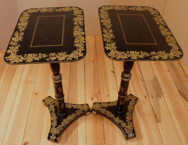 Zwei filigrane chinesische Beistell- Tische gefertigt um 1950 Antik Kolosseum