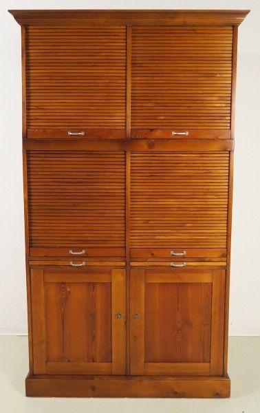 Restaurierter Jugendstil Roll - Büroschrank / Bücherschrank Antik Kolosseum 0
