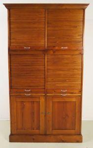 Restaurierter Jugendstil Roll - Büroschrank / Bücherschrank Antik Kolosseum