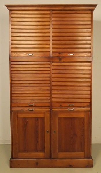 Restaurierter Jugendstil Roll - Büroschrank / Bücherschrank Antik Kolosseum 1
