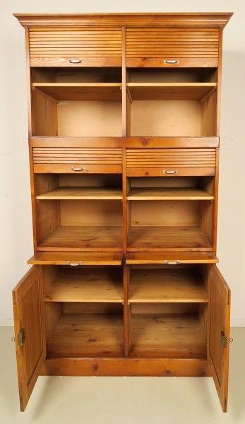 Restaurierter Jugendstil Roll - Büroschrank / Bücherschrank Antik Kolosseum 2