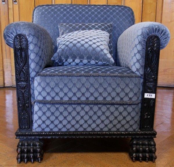 Ein monumentaler figürlicher Neorenaissance Club- Sessel Antik Kolosseum