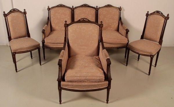 Salonsitzgruppe im Empire Stil gefertigt in den 50er Jahren Antik Kolosseum