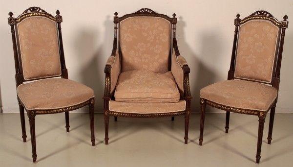 Salonsitzgruppe im Empire Stil gefertigt in den 50er Jahren Antik Kolosseum 7