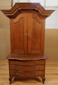 Eiche Aufsatz- Kommode aus dem Danziger Barock gefertigt um 1870 Antik Kolosseum