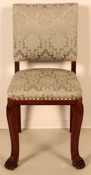 Schönes Pärchen Neorenaissance Stühle aus Nussbaum um 1920 Antik Kolosseum 1