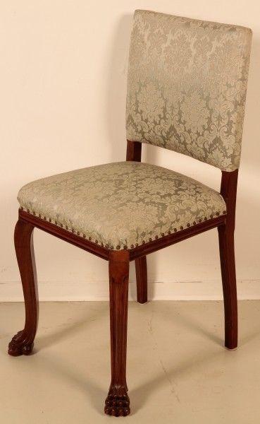 Schönes Pärchen Neorenaissance Stühle aus Nussbaum um 1920 Antik Kolosseum 2