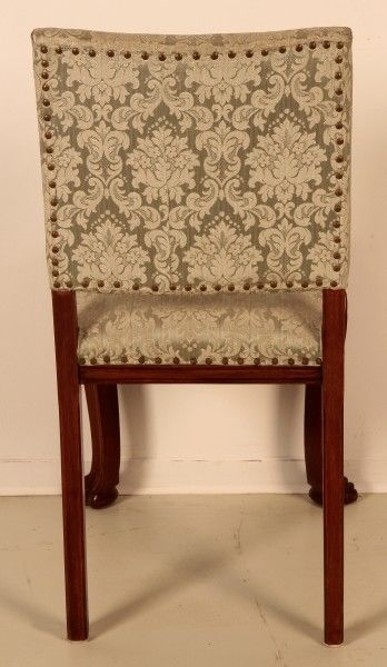 Schönes Pärchen Neorenaissance Stühle aus Nussbaum um 1920 Antik Kolosseum 3
