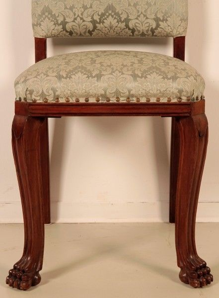 Schönes Pärchen Neorenaissance Stühle aus Nussbaum um 1920 Antik Kolosseum 5