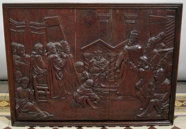 Original Barock Holz - Relief mit Krönungsszene gefertigt um 1740Antik Kolosseum
