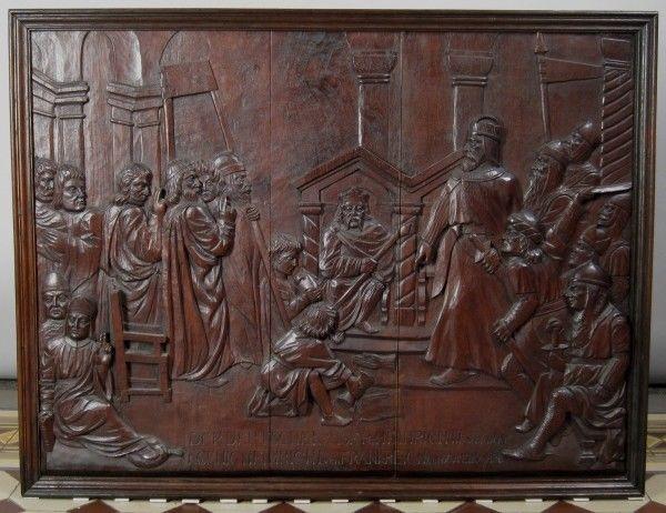 Original Barock Holz - Relief mit Krönungsszene gefertigt um 1740Antik Kolosseum 1
