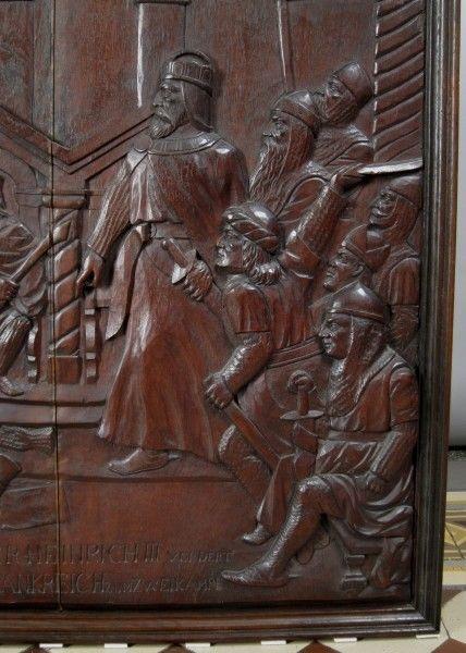 Original Barock Holz - Relief mit Krönungsszene gefertigt um 1740Antik Kolosseum 2
