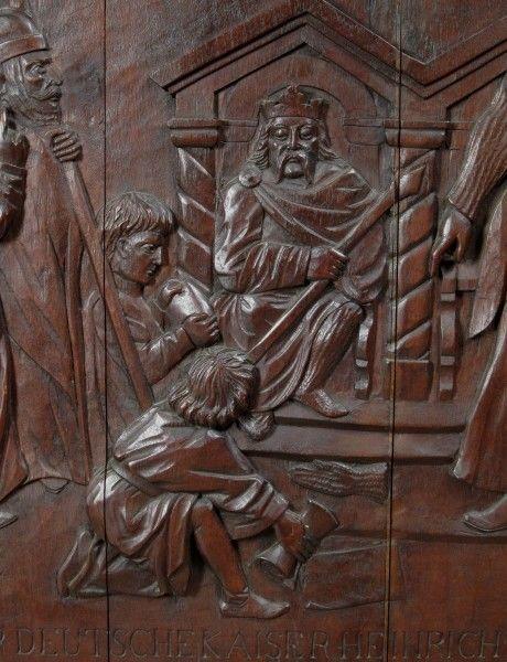 Original Barock Holz - Relief mit Krönungsszene gefertigt um 1740Antik Kolosseum 3