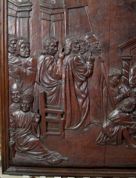 Original Barock Holz - Relief mit Krönungsszene gefertigt um 1740Antik Kolosseum 4