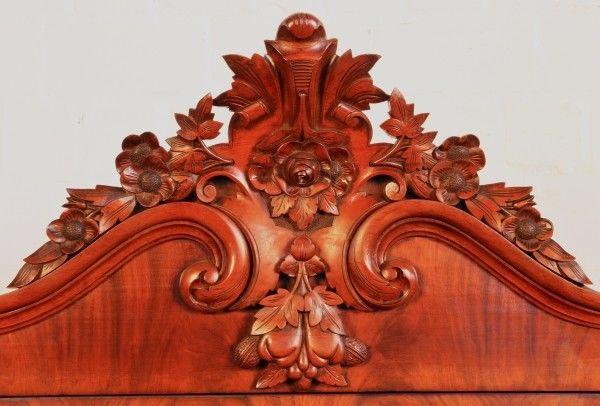 Wunderschöner Louis Philippe Sekretär aus Mahagoni um 1870/80 Antik Kolosseum 4