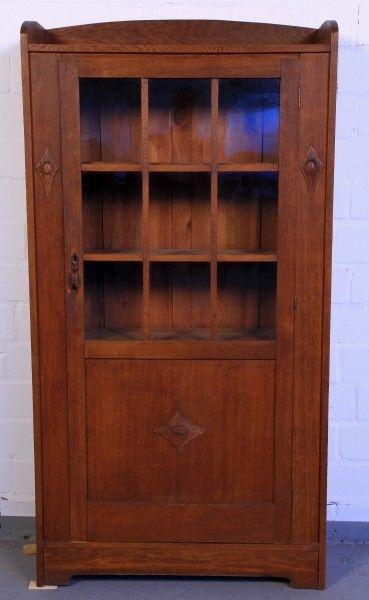 Altberliner Jugendstil Bücherschrank aus Eiche gefertigt um 1900 Antik Kolosseum 0