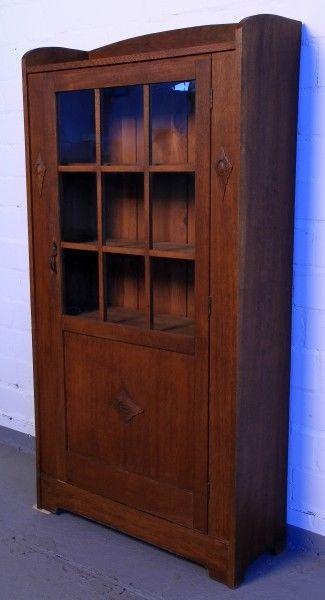 Altberliner Jugendstil Bücherschrank aus Eiche gefertigt um 1900 Antik Kolosseum 1