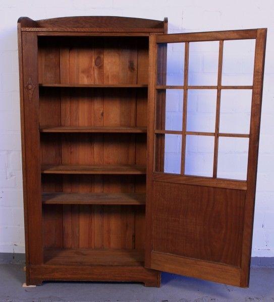 Altberliner Jugendstil Bücherschrank aus Eiche gefertigt um 1900 Antik Kolosseum 2