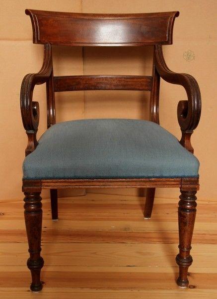 Spätbiedermeier Armlehner aus Mahagoni gefertigt um 1850 Antik Kolosseum 0