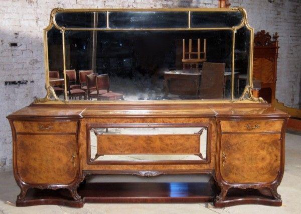 Elegantes Art Deko Buffet aus Nussbaum gefertigt um 1920 Antik Kolosseum