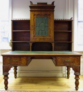 Riesiger Biedermeier Aufsatz- Schreibtisch gefertigt um 1850 Antik Kolosseum