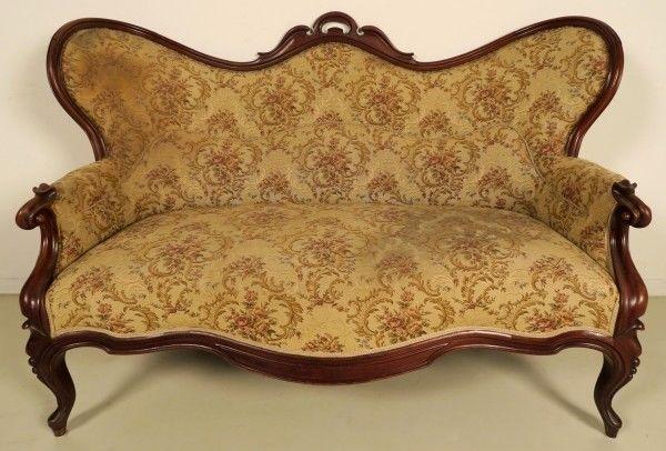 Original Louis Philippe Sofa aus Mahagoni gefertigt um 1870/80 Antik Kolosseum