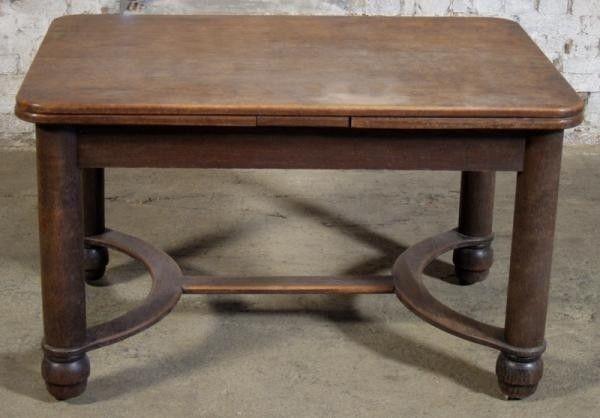 art deco esstisch mit zwei auszugsplatten gefertigt um 1920 antik kolosseum nr 391860130748. Black Bedroom Furniture Sets. Home Design Ideas