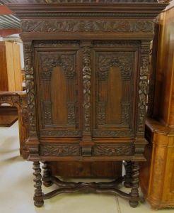 Original Danziger Barock Kabinettschrank aus Nussbaum Antik Kolosseum