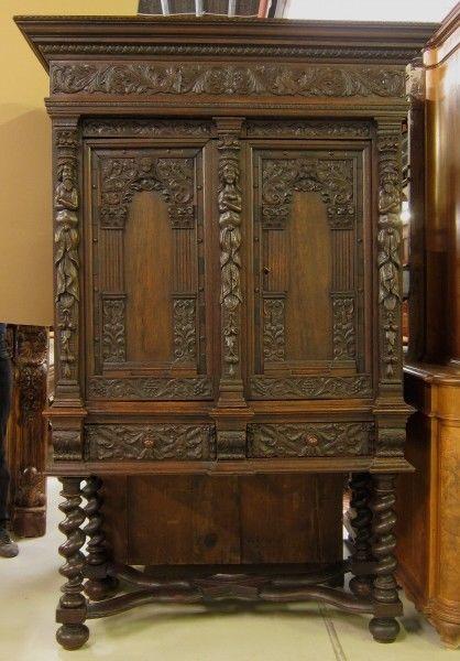 original danziger barock kabinettschrank aus nussbaum antik kolosseum nr 272798533410. Black Bedroom Furniture Sets. Home Design Ideas