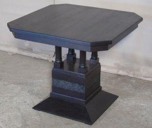 Neoromanischer Raucher- Tisch / Beistelltisch um 1910 aus Eiche Antik Kolosseum