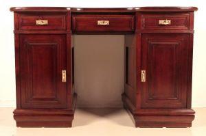 Restaurierter Jugendstil Damen - Schreibtisch aus Mahagoni Antik Kolosseum