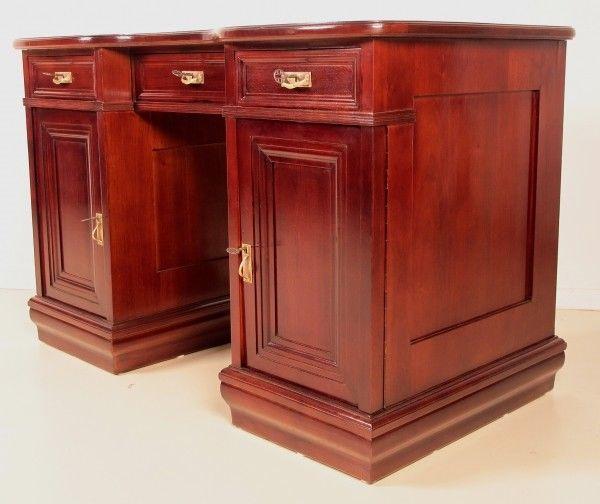 Restaurierter Jugendstil Damen - Schreibtisch aus Mahagoni Antik Kolosseum 4