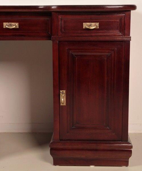 Restaurierter Jugendstil Damen - Schreibtisch aus Mahagoni Antik Kolosseum 7