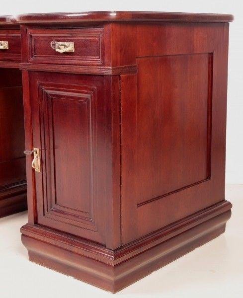 Restaurierter Jugendstil Damen - Schreibtisch aus Mahagoni Antik Kolosseum 8