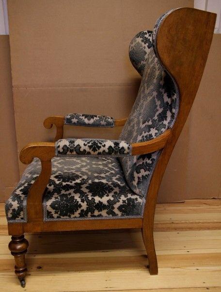 Zauberhafter Biedermeier Ohrenbacken Sessel aus Kirschholz Antik Kolosseum 2