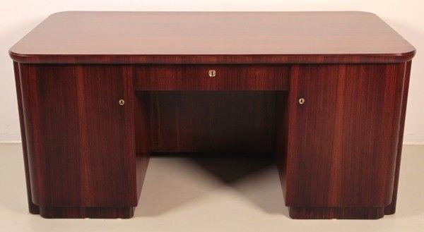 Schreibtisch holz antik  Restaurierter Art Deco Schreibtisch aus Makassar Holz um 1920 Antik ...