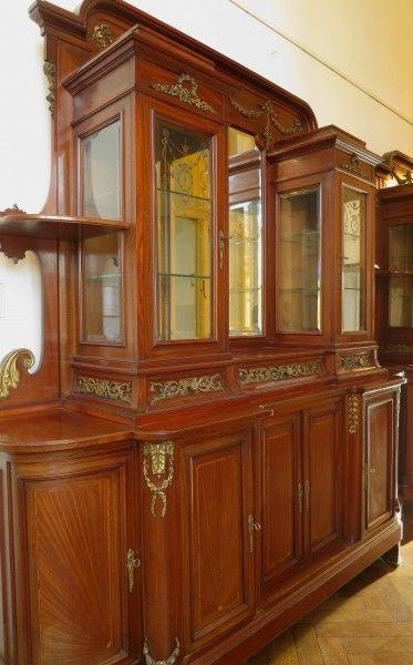 Elegantes paar monumentaler jugendstil buffets aus mahagoni antik kolosseum nr 272805612601 - Jugendstil buffet ...