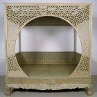 Original chinesisches Himmelbett mit schönen Schnitzereien Antik Kolosseum