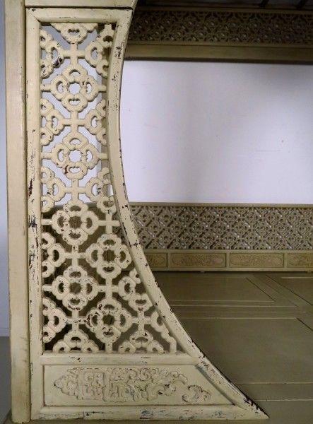Original chinesisches Himmelbett mit schönen Schnitzereien Antik Kolosseum 10