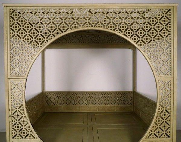 Original chinesisches Himmelbett mit schönen Schnitzereien Antik Kolosseum 9