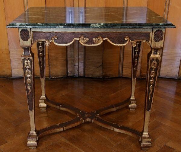 Höfischer Barock Salon- Tisch aus Frankreich gefertigt um 1780 Antik Kolosseum 0