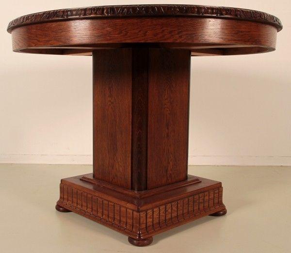Schöner Restaurierter Eiche Beistelltisch gefertigt um 1910 Antik Kolosseum