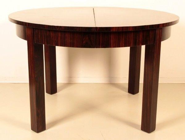 Fantastischer Art Deco Tisch aus Makassarholz zum ausziehen Antik Kolosseum
