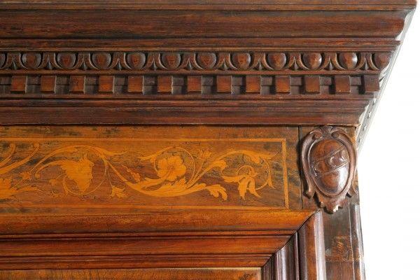 Original Barock Kleiderschrank mit wunderschönen Intarsien Antik Kolosseum 4