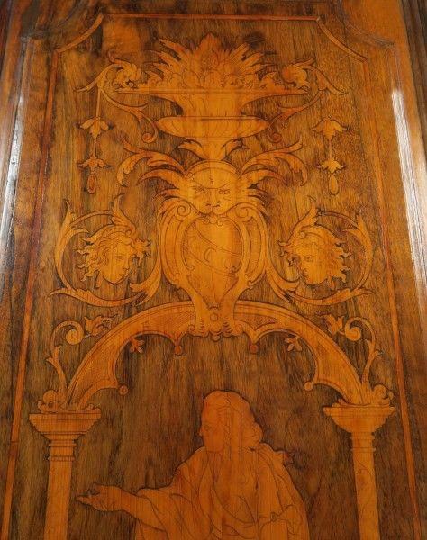 Original Barock Kleiderschrank mit wunderschönen Intarsien Antik Kolosseum 8
