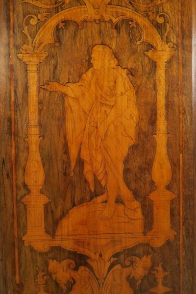 Original Barock Kleiderschrank mit wunderschönen Intarsien Antik Kolosseum 9