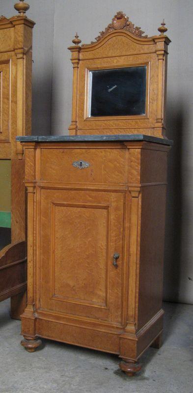 3  Teiliges Gründerzeit Schlafzimmer Aus Ahorn Gefertigt Um 1900 Antik  Kolosseum 3