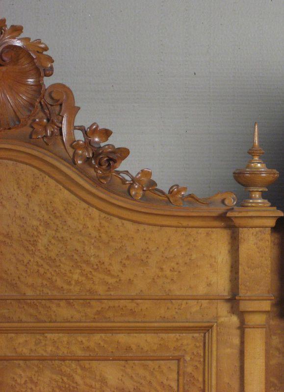 3- teiliges Gründerzeit Schlafzimmer aus Ahorn gefertigt um 1900 ...
