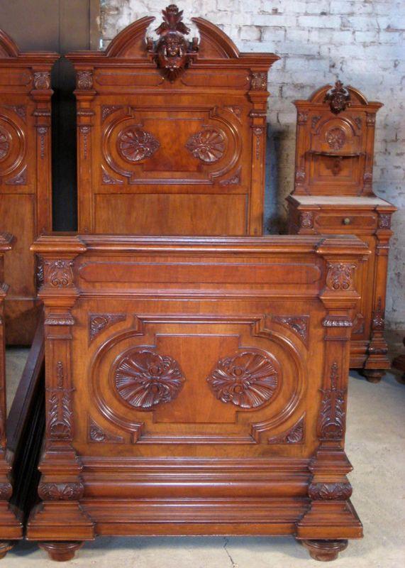 Sensationelles figürliches 7- teiliges Gründerzeit Schlafzimmer Antik  Kolosseum