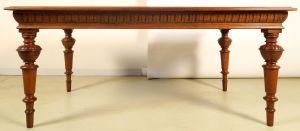 Restaurierte Gründerzeit Tafel aus Eiche gefertigt um 1900 Antik Kolosseum